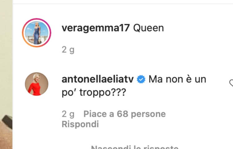 Commento Antonella Elia, Vera Gemma
