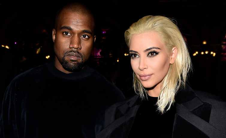 Kanye West e Kim Kardashian all'epoca del loro matrimonio