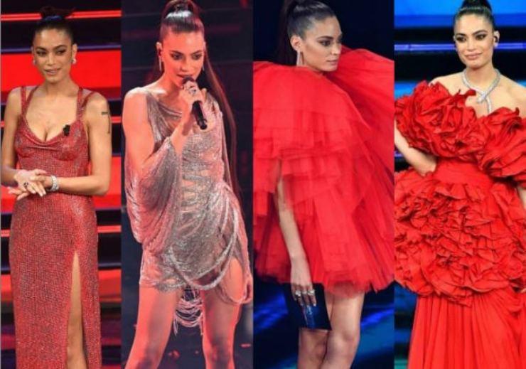 Gli outfit di Elodie a Sanremo