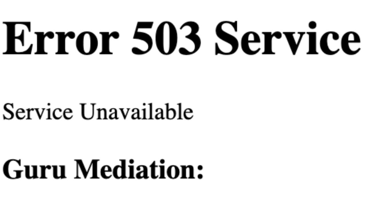 Internet down, schermata errore