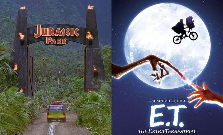 Jurassic Park e E.T. locandine