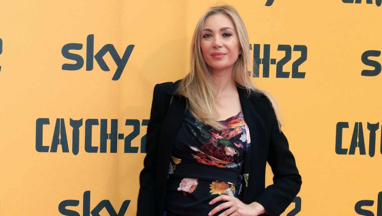 Laura Cremaschi con l'abito nero