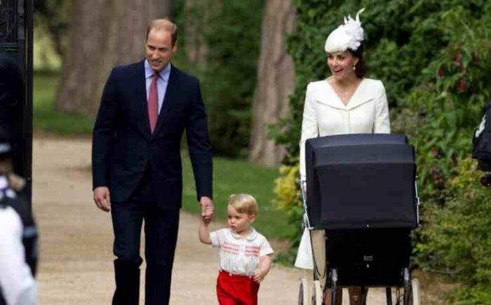 William e Kate con George