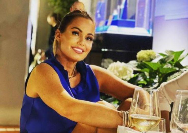 Sonia Bruganelli al compleanno del marito