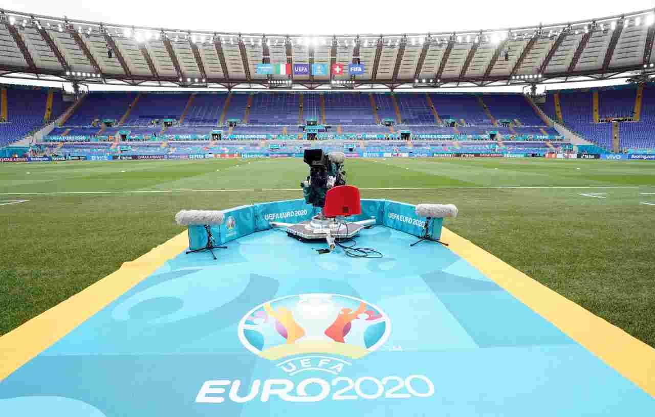 Stadio Olimpico allestito per Euro 2020