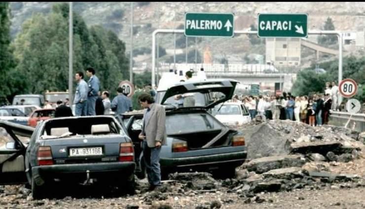 Strage di Capaci del 1992 in cui perse la vita il giudice Falcone