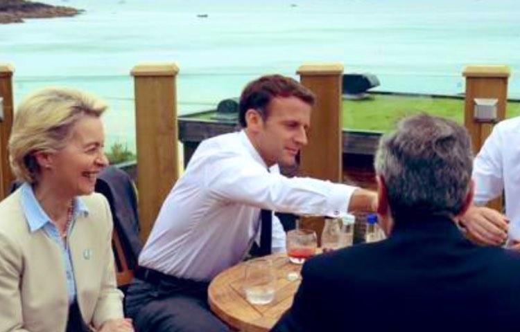 Ursula Von der Leyen, Macronne e Draghi