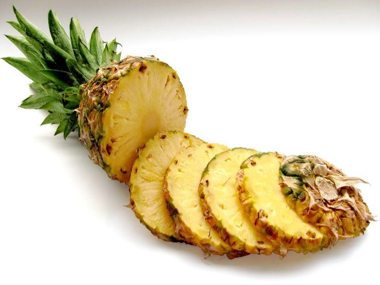 ananas a fette per crostata