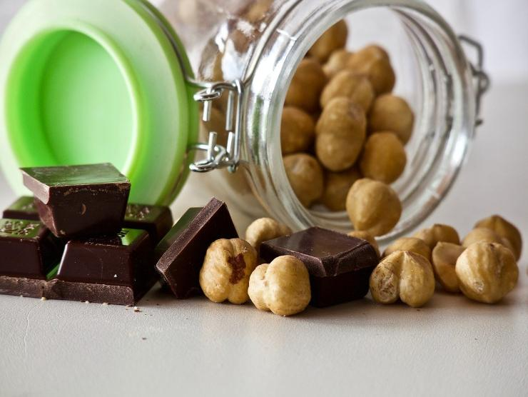 hazelnuts and chocolate