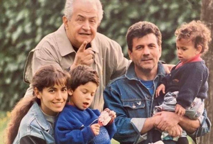 Barbara insieme alla sua famiglia