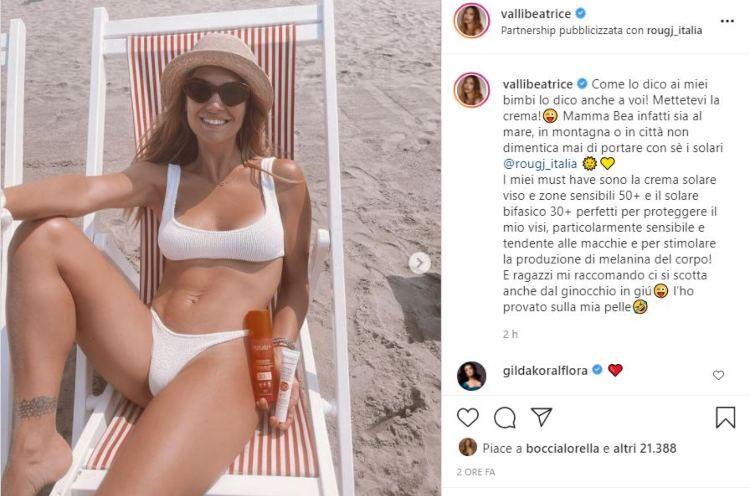 Beatrice Valli Mare Crema Consigli