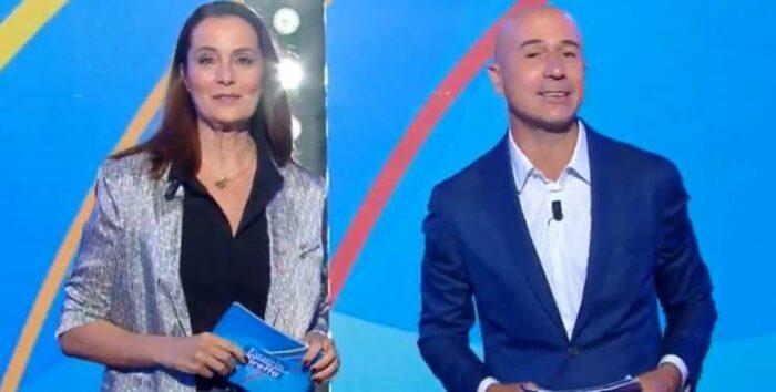 Roberta Capua e Gianluca Semprini