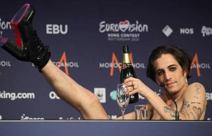 Damiano dopo la vittoria all'Eurovision