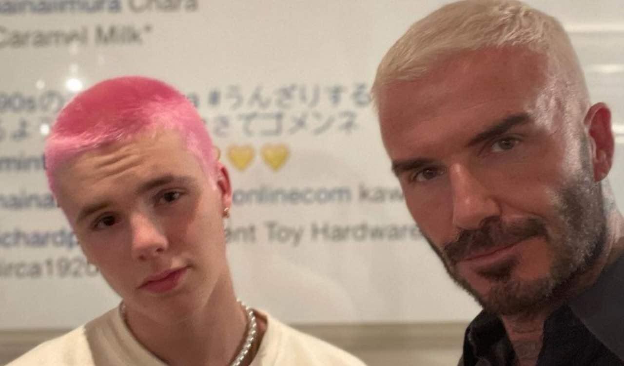 David Beckham e il figlio Cruz