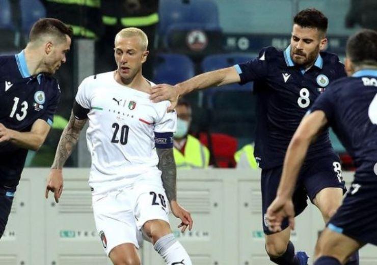 Il calciatore durante gli Europei
