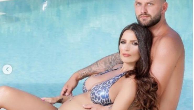 La Macari e suo marito in attesa del primogenito