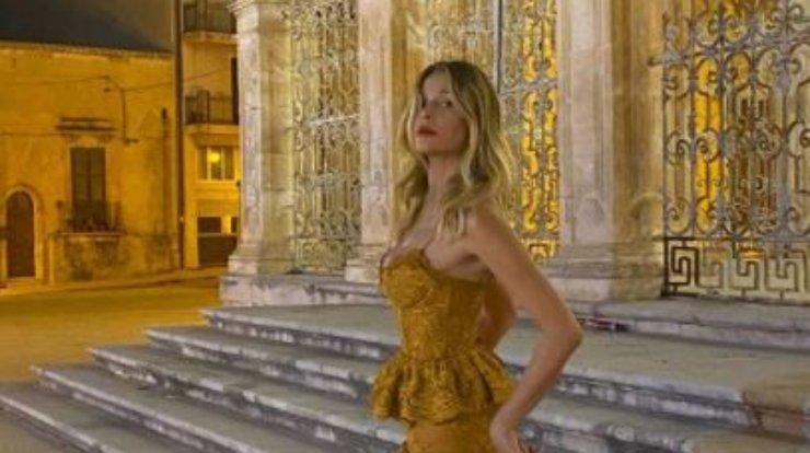 La Marcuzzi, showgirl e conduttrice televisiva
