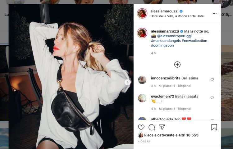 Alessia Marcuzzi post Instagram