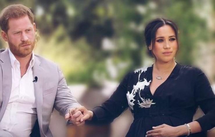 La coppia durante l'intervista con Oprah