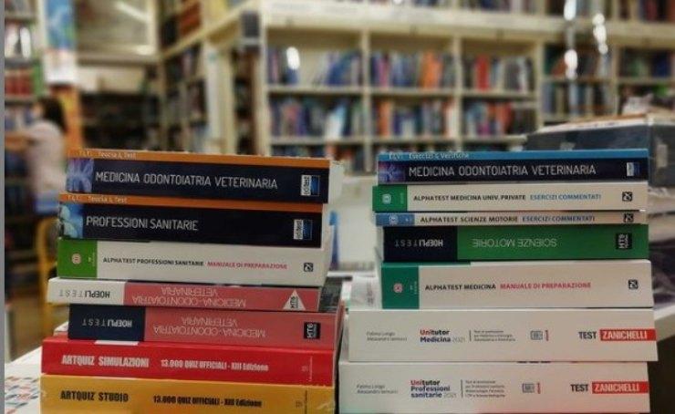 Libri usati per studiare prima del test