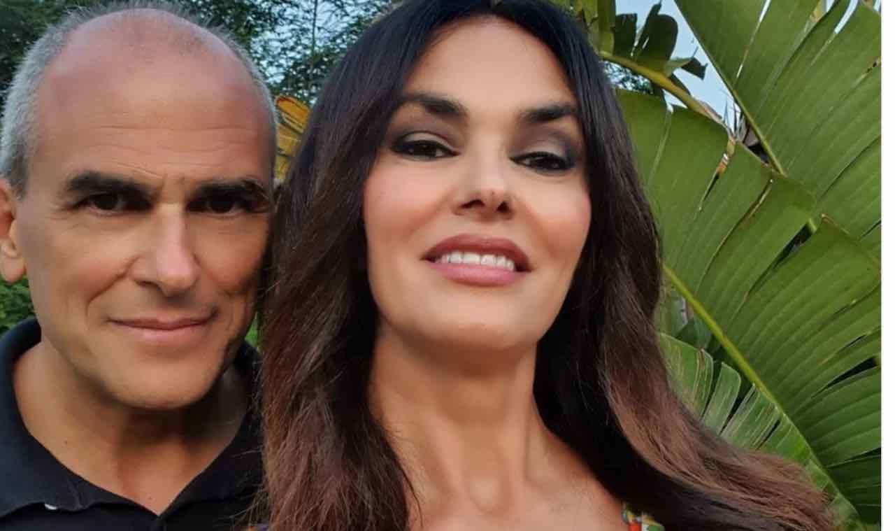 Maria Grazia Cucinotta e il fratello