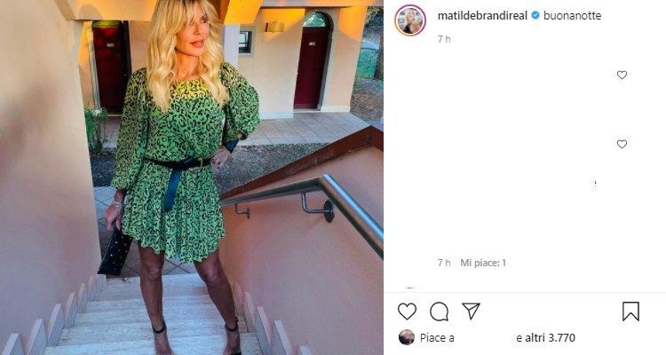 Matilde Brandi baciata dal sole