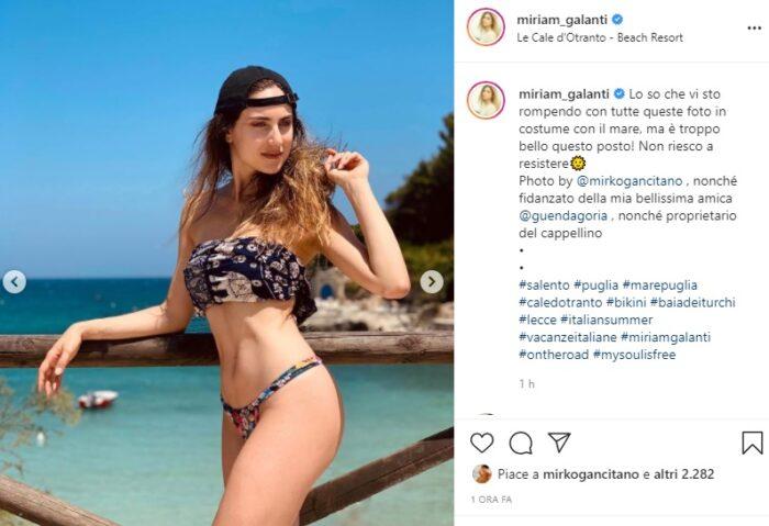 Miriam Galanti post Instagram