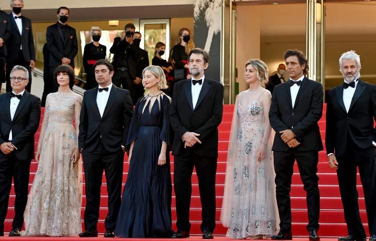 Nanni Moretti e il cast di 'Tre Piani' a Cannes