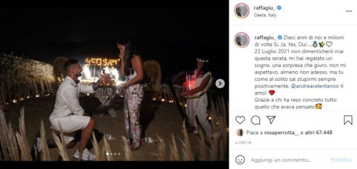 Raffaella Giudice post Instagram