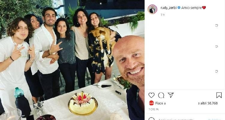 Rudy Zerbi con ex allievi Amici