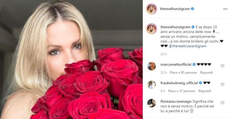 Screen post della showgirl