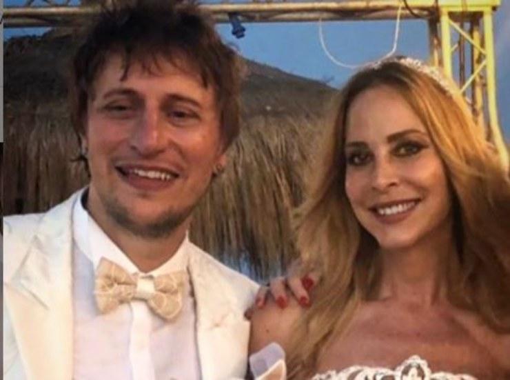 Stefania e Simone nel giorno delle nozze