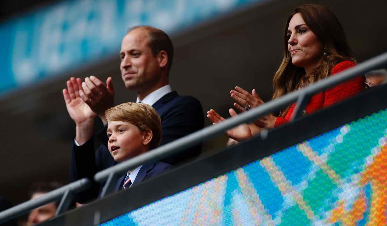 William e Kate allo stadio, Inghilterra-Germania