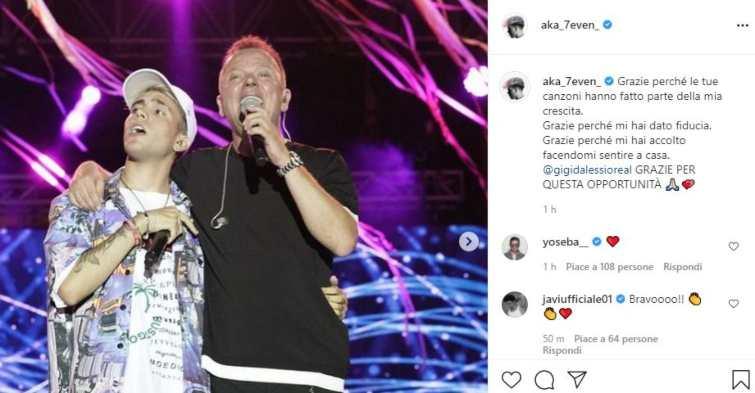 Aka7even con Gigi D'Alessio