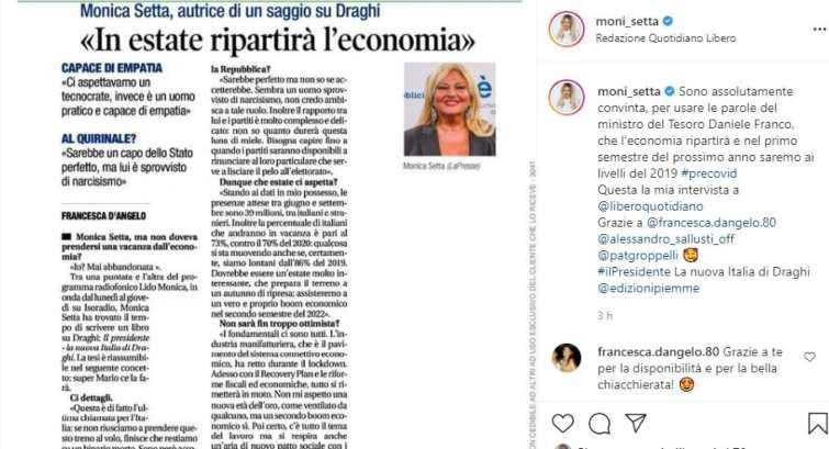 Monica Setta intervista Libero