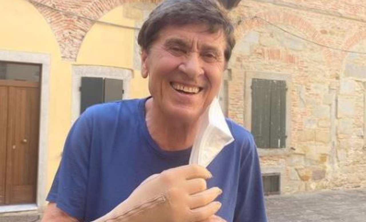 Gianni Morandi sorriso