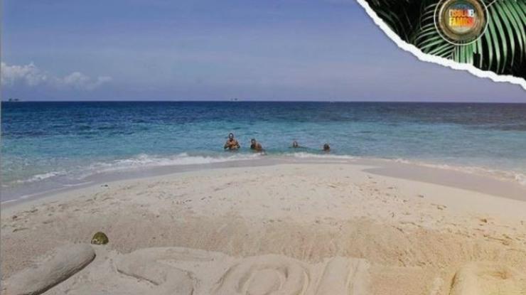 la spiaggia in Honduras