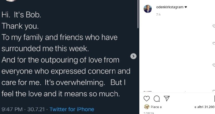 Bob Odenkirk parla dopo malore