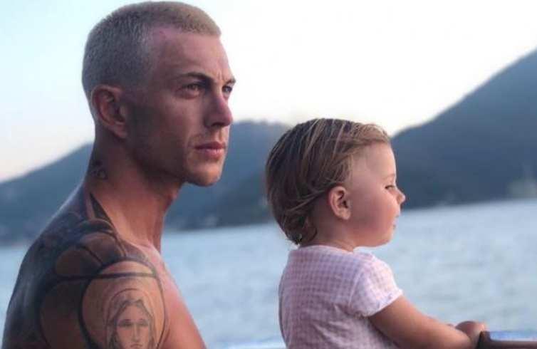 Federico Bernardeschi con figlia