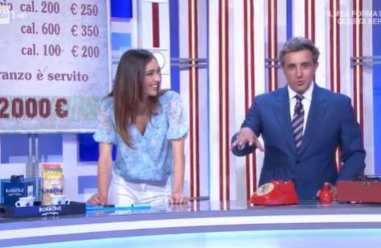Flavio Insinna e Ginevra Pisani