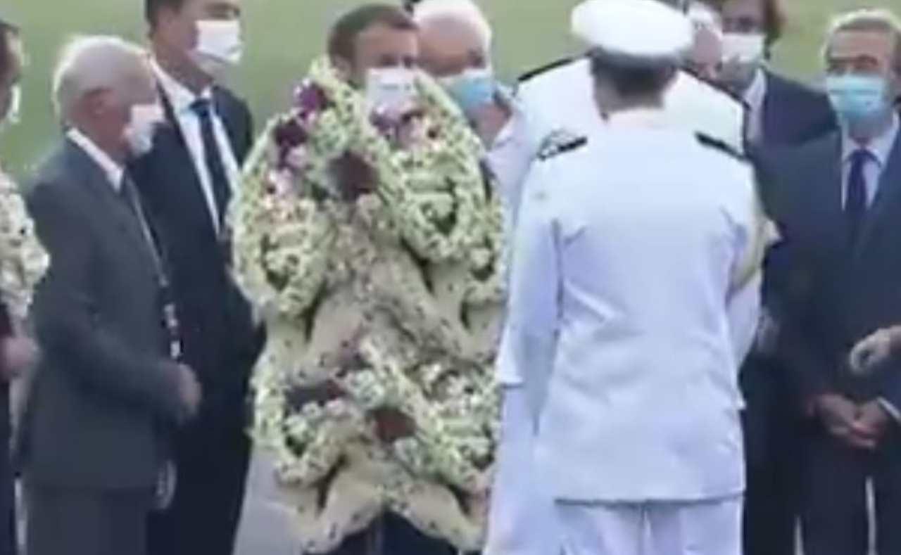Presidente Macron fotomontaggio