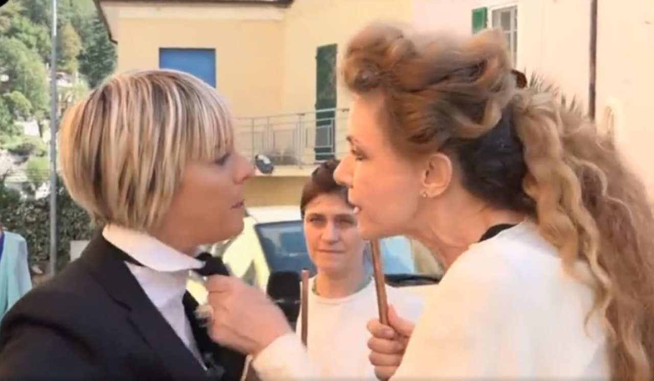Brigliadori e Toffa litigano