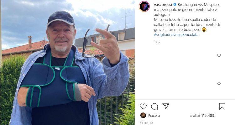Vasco Rossi incidente