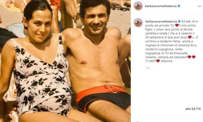 Barbara D'Urso post Instagram