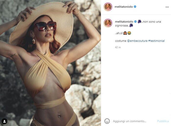 melita toniolo post instagram