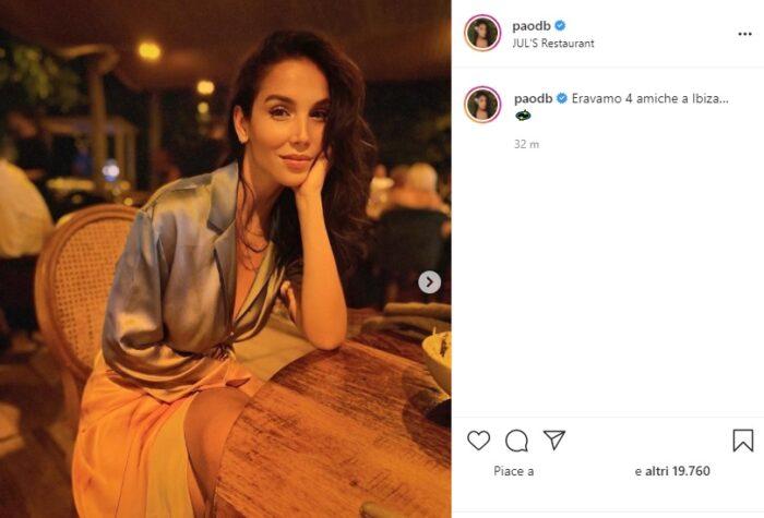 paola di benedetto post instagram