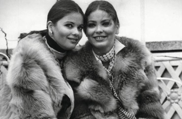 Claudia e Ornella in bianco e nero