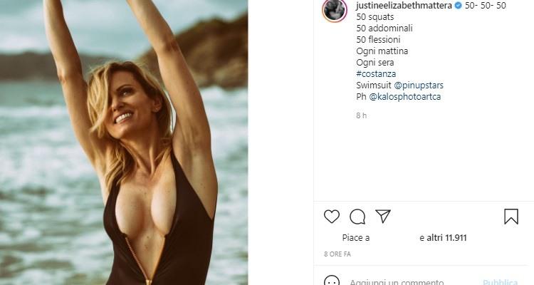 Justine Mattera sensuale