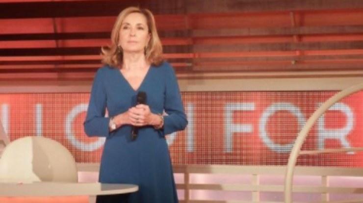 La Palombelli conduttrice televisiva