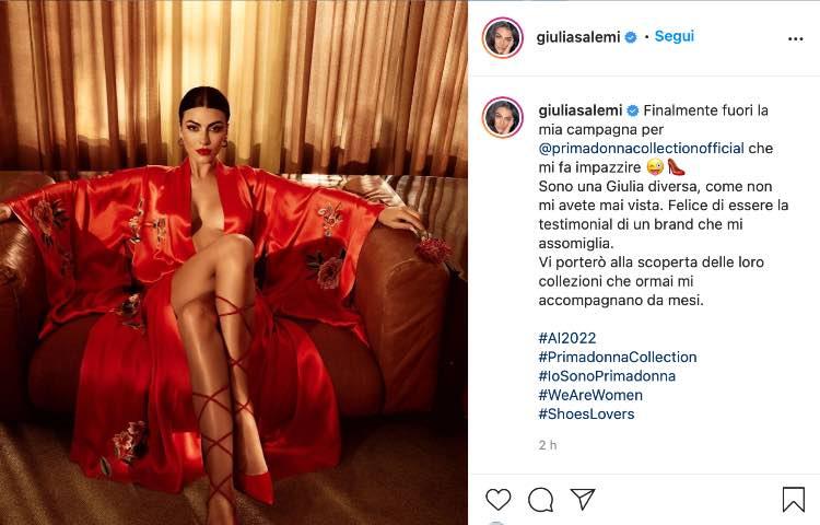 Post Instagram Giulia Salemi